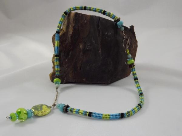 N-40 Ndebele Necklace with Focal Pendant