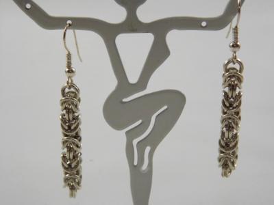 E-65 Sterling Silver Chain Earrings
