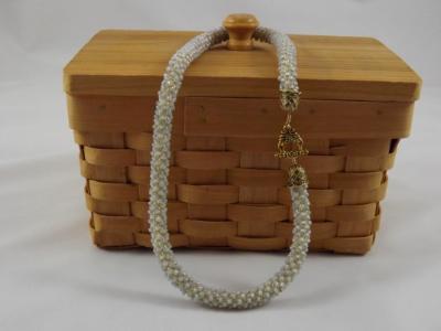 N-51 Light Grey Crocheted Rope Bracelet