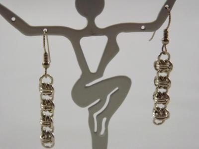 E-70 Sterling Silver Chain Earrings