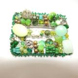 Green Buckle Brooch