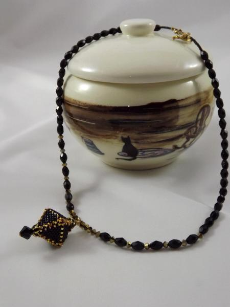 N-1 Black & Gold Lantern Necklace
