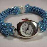 W-5 Light Blue Beaded Watch