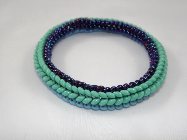 B-2 aqua & blue bangle bracelet