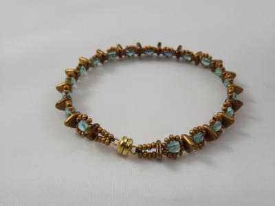 B-87 matte burnished gold bracelet