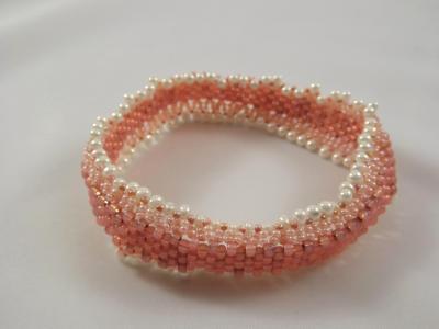 B-35 light coral bangle bracelet