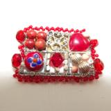 Red Mosaic Brooch