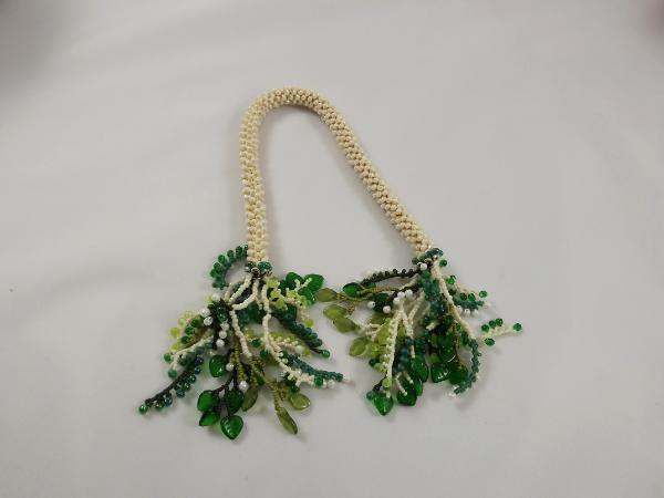 T-3 Ivory Crocheted Tassel Rope