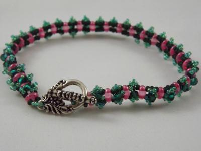 B-20 green & pink bracelet
