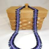 N-65 Shades of Blue Teardrop Woven Necklace
