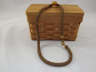 N-58 Bronze Crocheted Rope Necklace