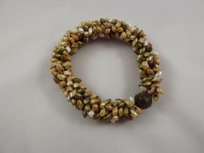 B-39 earthtone spikey bracelet