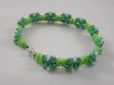B-32 turquoise & lime green bracelet