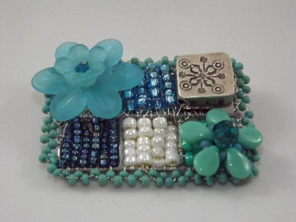 Turquoise Flower Brooch