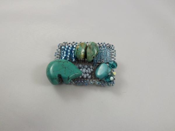 Turquoise Fetish Bear Brooch